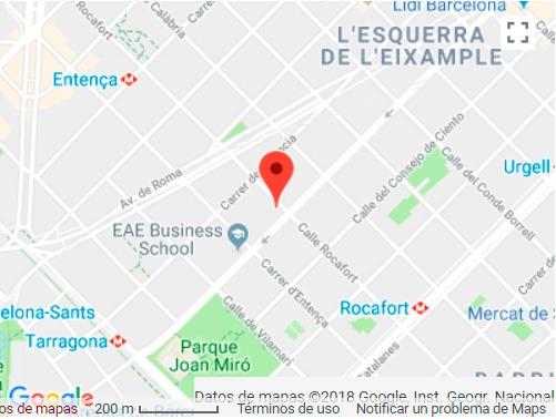 Mapa aagd abogados Barcelona Eixample