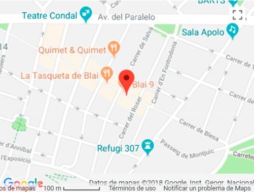 Mapa AAGD Abogados Barcelona Poble Sec